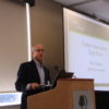 Addressing the Tenure Innovations Task Force, Bob Wagner, task force leader, speaks at the LAP2 launch.